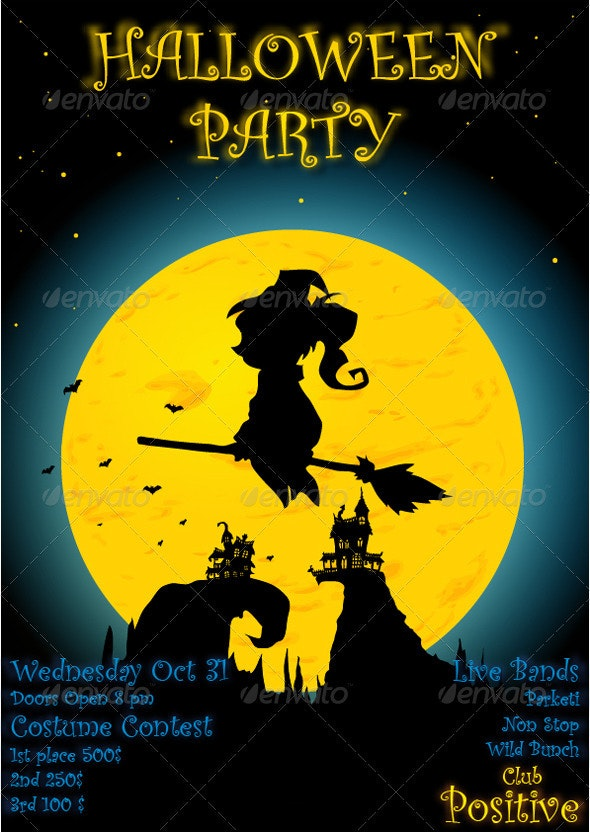 Halloween Party Poster  - Halloween Seasons/Holidays