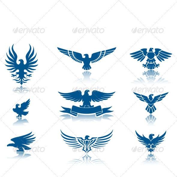 Retro Eagles insignias Set