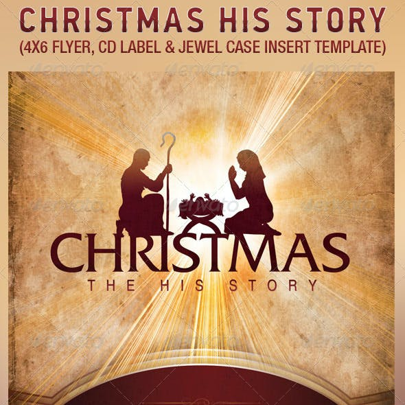 Christmas Story Flyer CD Label Template