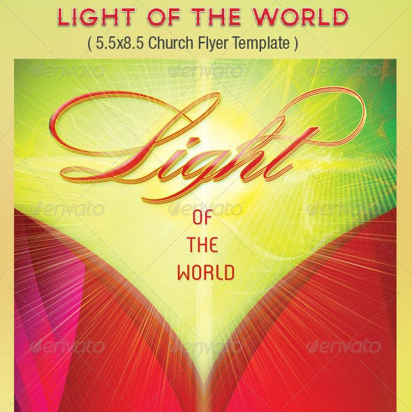 Light Church Flyer Template