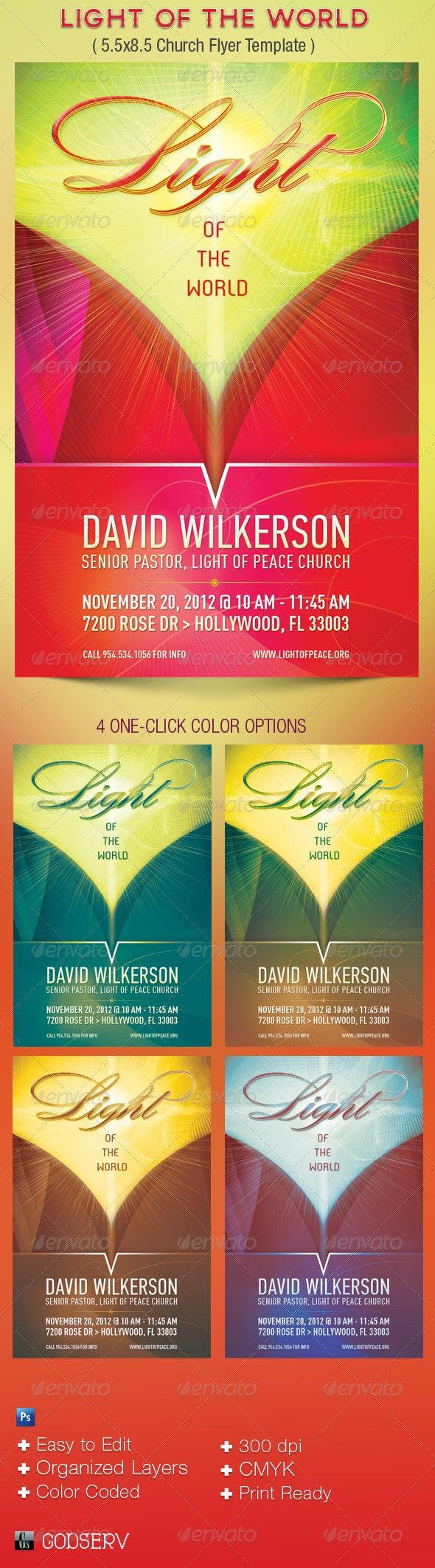 Light Church Flyer Template - Church Flyers