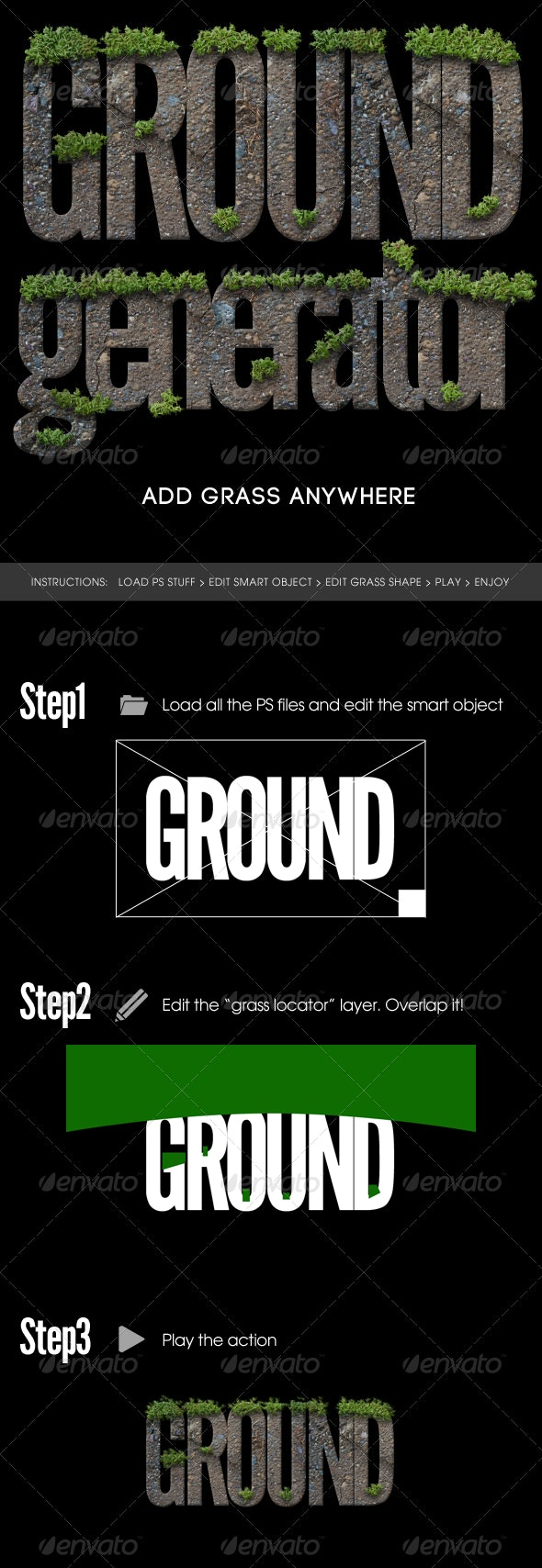 Photorealistic Grassy Ground Generator - Text Effects Actions