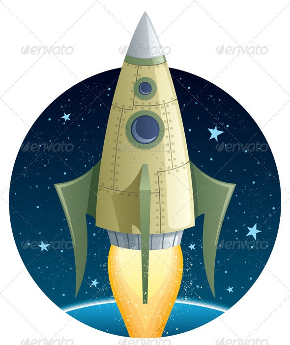 Rocket in Space - Technology Conceptual