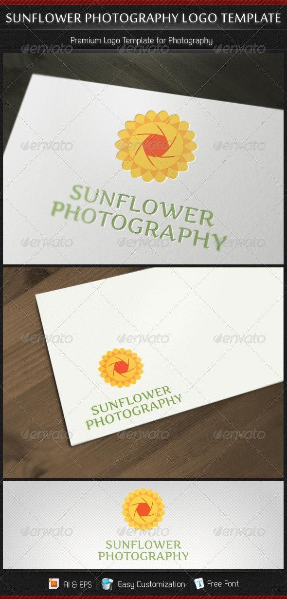 Sunflower Photography Logo Template - Nature Logo Templates