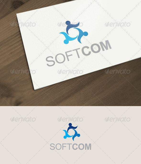 Softcom Logo - Humans Logo Templates