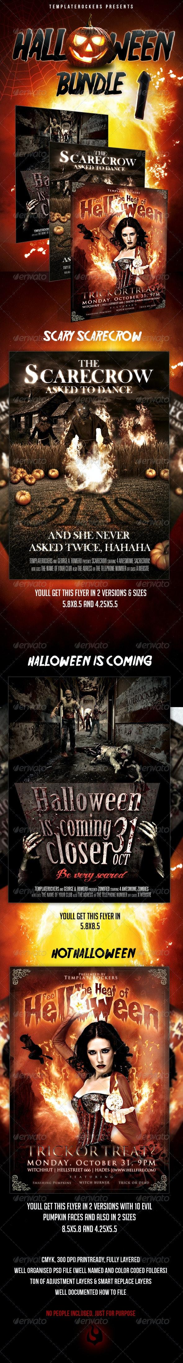Halloween Party Flyer Bundle  - Events Flyers