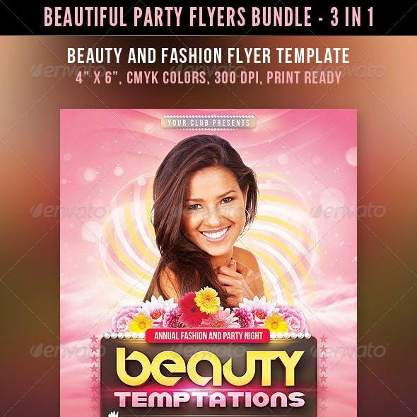 Beautiful Party Flyers Bundle