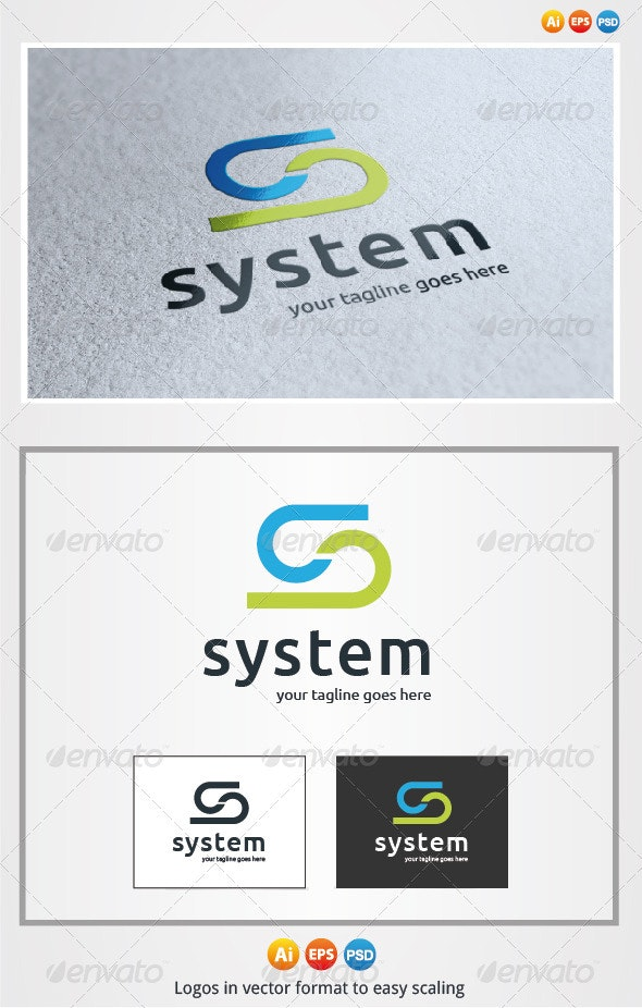 System S Letter Logo - Letters Logo Templates