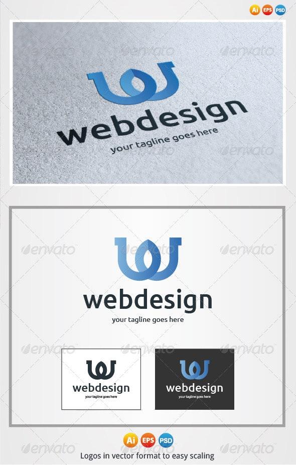 Webdesign W Letter - Letters Logo Templates