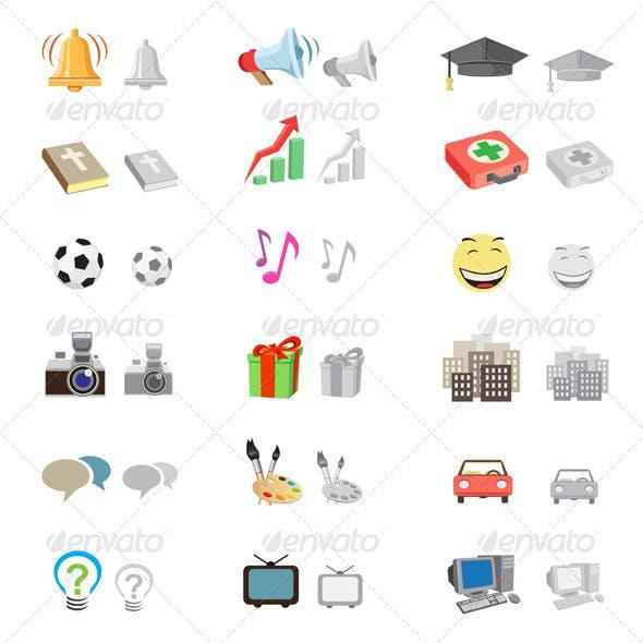 Forum icon set