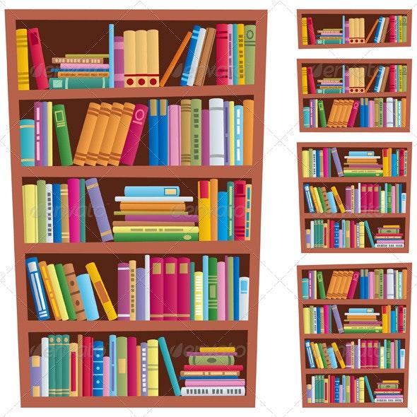 Bookshelf - Man-made Objects Objects