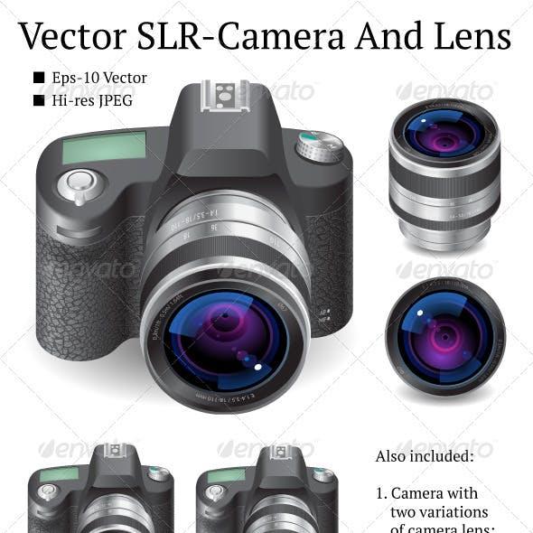 Vector SLR-Camera And Lens