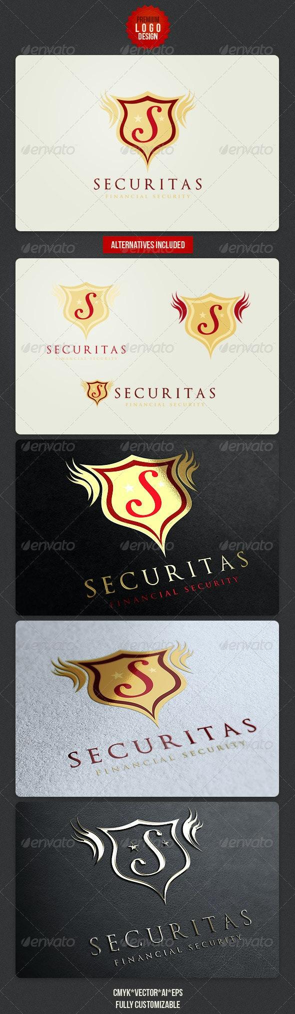 Security Retro Logo Design - Crests Logo Templates