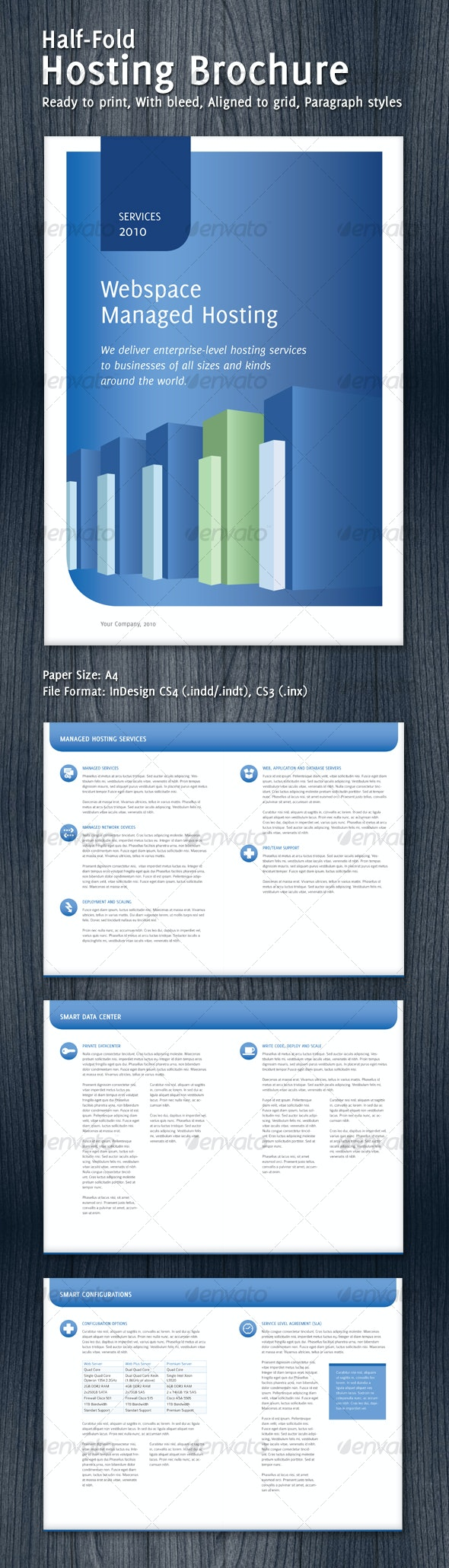 Half-Fold Hosting Brochure - Corporate Brochures