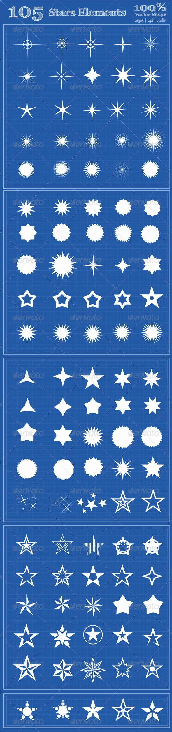 105 Stars Element - Decorative Symbols Decorative
