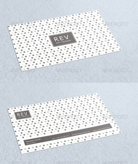 Rev Fashon Business Card - Corporate Business Cards