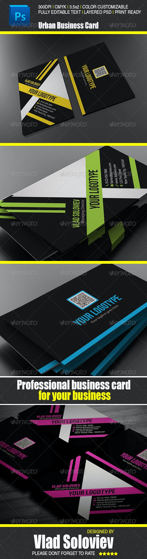 Urban Business Card - Corporate Business Cards