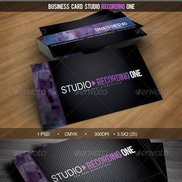 Business Card Studio Recording One