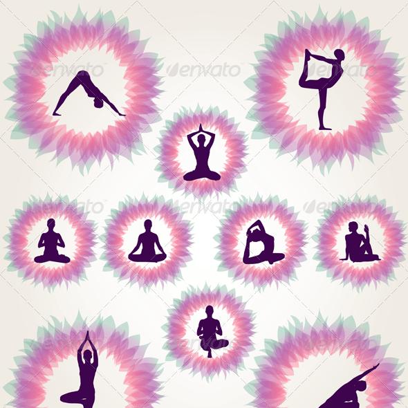 Floral Yoga Illustration Set