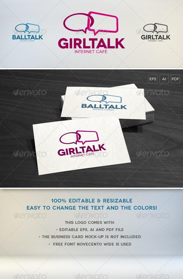 Talk Logo Template - Symbols Logo Templates