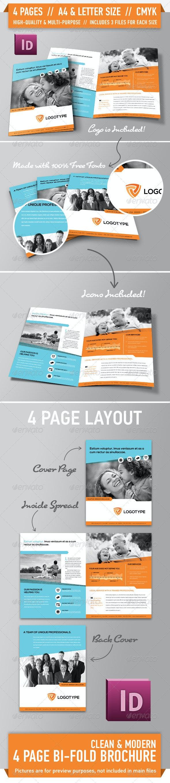 Clean Modern Bifold Brochure - Vol. 2 - Corporate Brochures