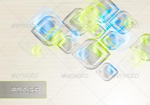 Shiny elegant shapes. Vector background - Backgrounds Decorative