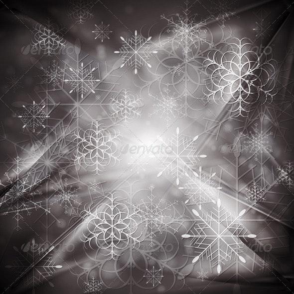 Abstract X-mas background. Vector illustration - New Year Seasons/Holidays