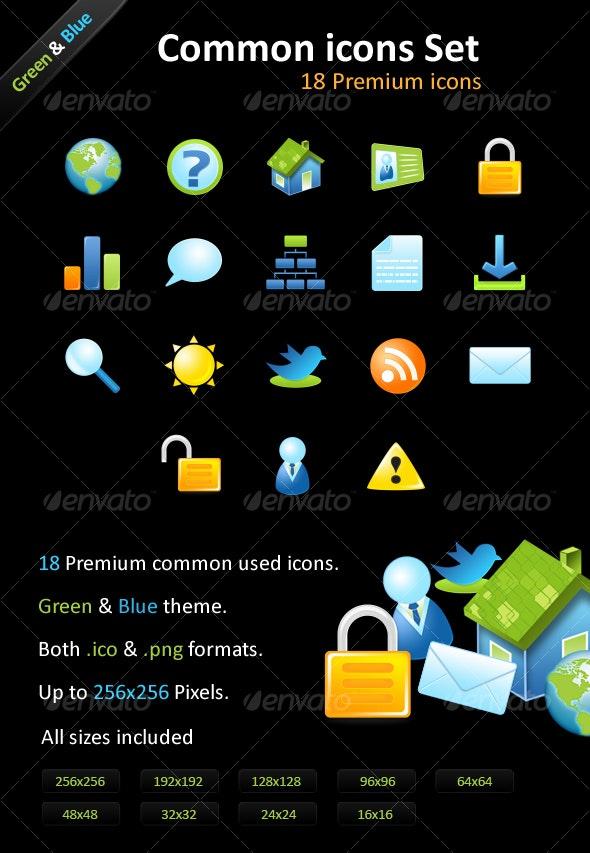 18 Premium icons - Common icons Set - Web Icons