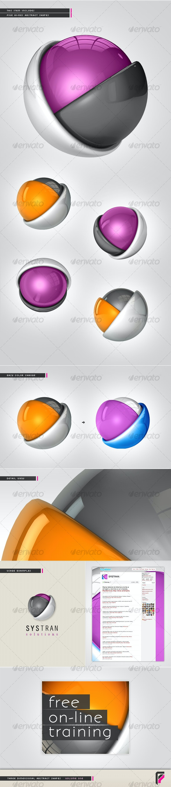 3D Abstract Shapes (Volume One) - 3D Renders Graphics