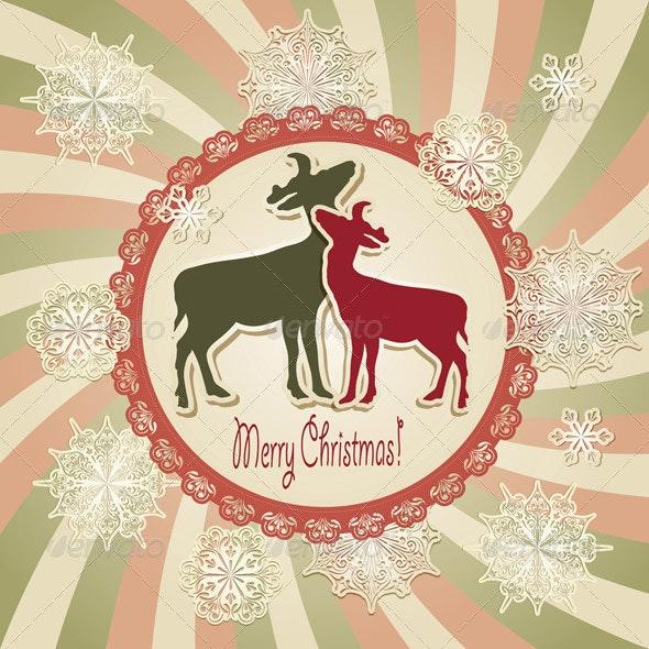 Vector Christmas Scrapbook Greeting Card - Christmas Seasons/Holidays