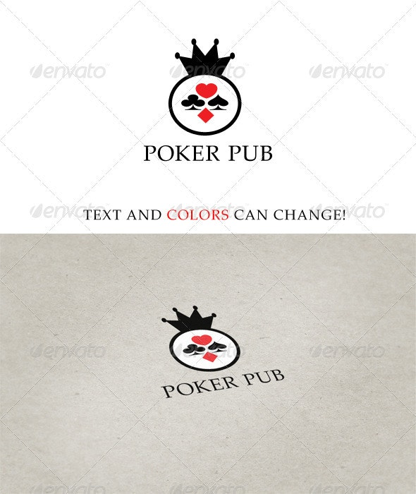 Poker Pub Logo - Vector Abstract