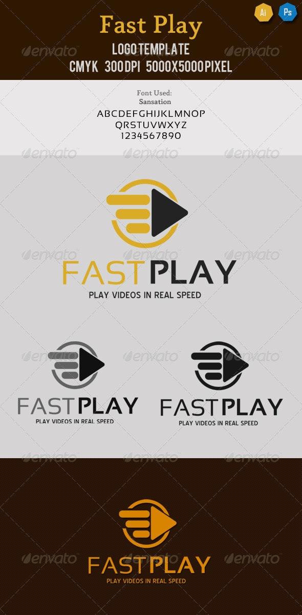 Fast Play Media Logo  - Symbols Logo Templates