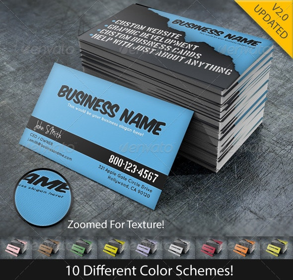 Green Graphic Business - Creative Business Cards