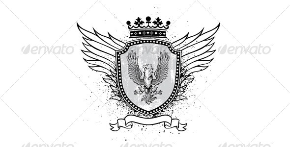 Eagle crest - Decorative Symbols Decorative