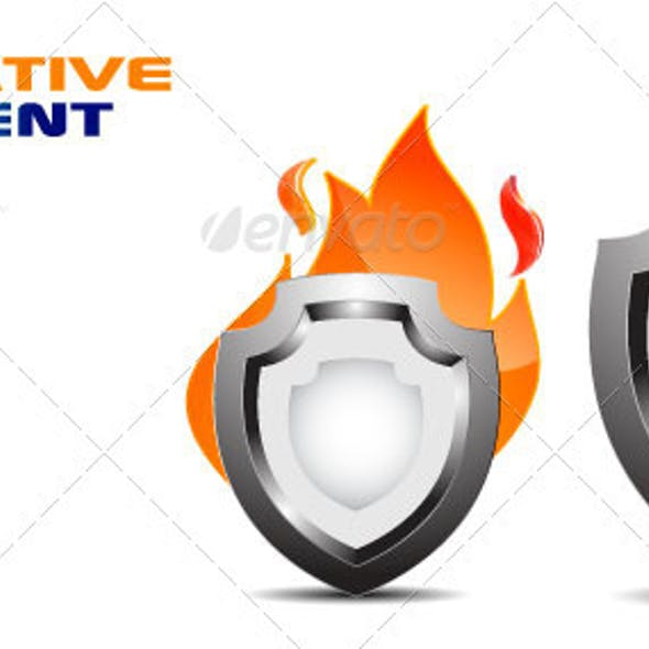 FireShield Decorative Element Vector