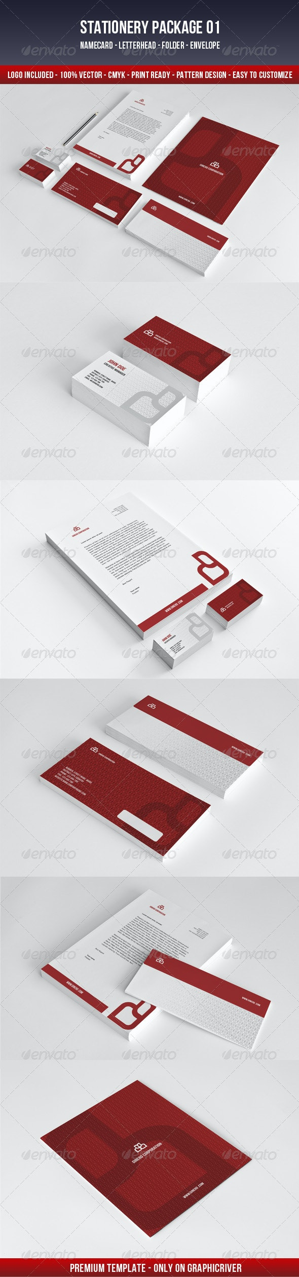 Ginero Corporation - Stationery Print Templates