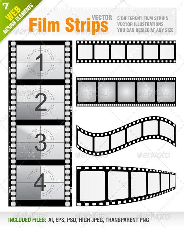 Vector Film Strips - Technology Conceptual