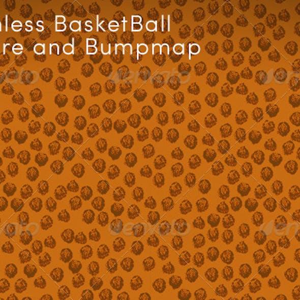 Hi-Res Seamless Basketball Texture and Bumpmap