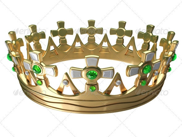 Royal Gold Crown - Objects 3D Renders