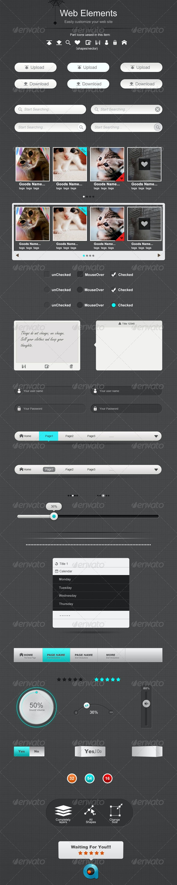 Simple And Clean Web Elements - Web Elements