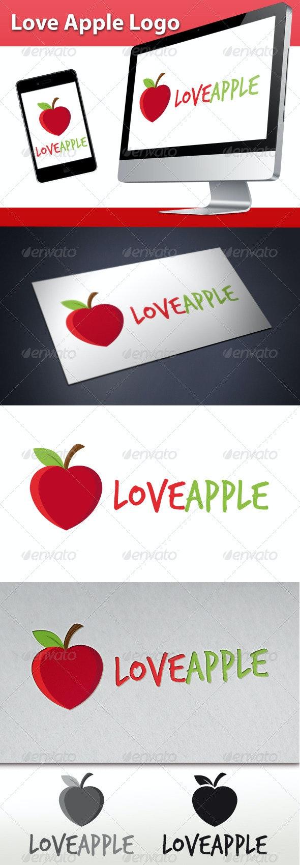 Love Apple Logo - Food Logo Templates