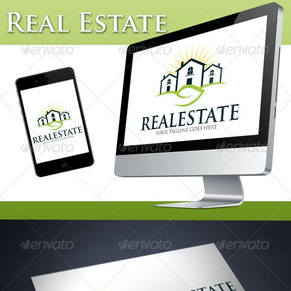 Real Estate Natural House Logo