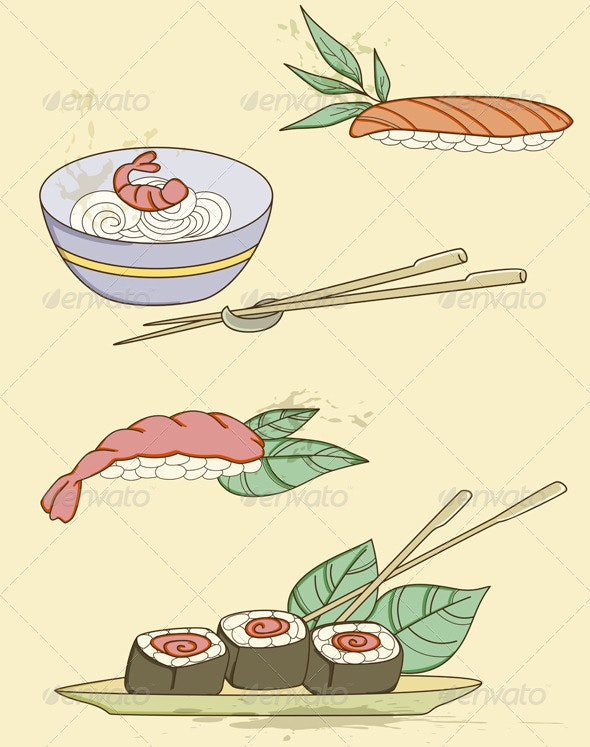 Seafood Icons - Food Objects