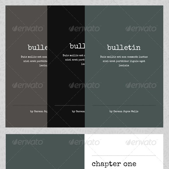 Bulletin - eBook Template or Print Book