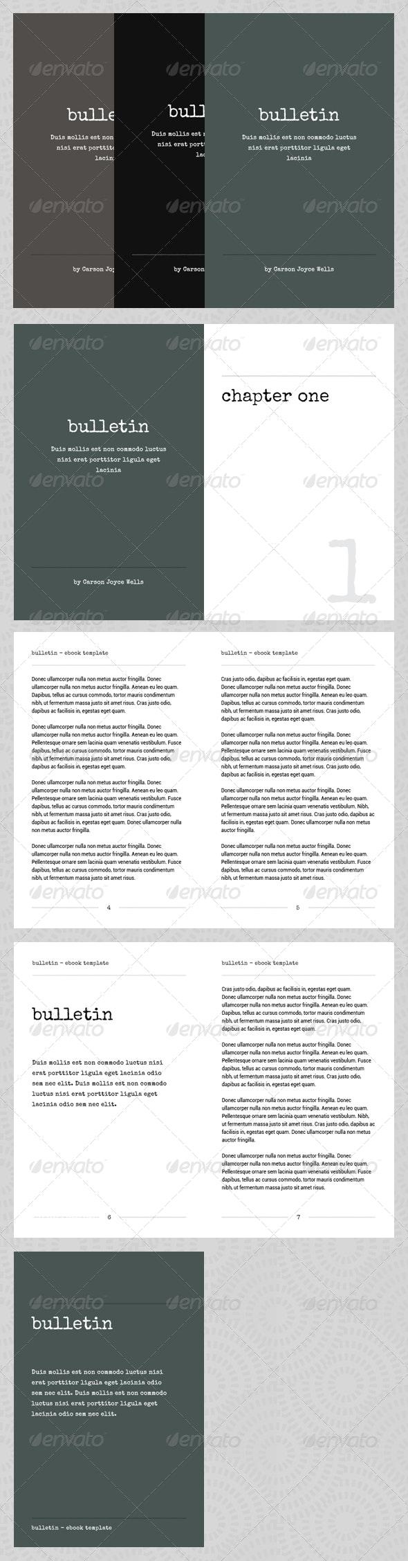 Bulletin - eBook Template or Print Book - Miscellaneous Print Templates