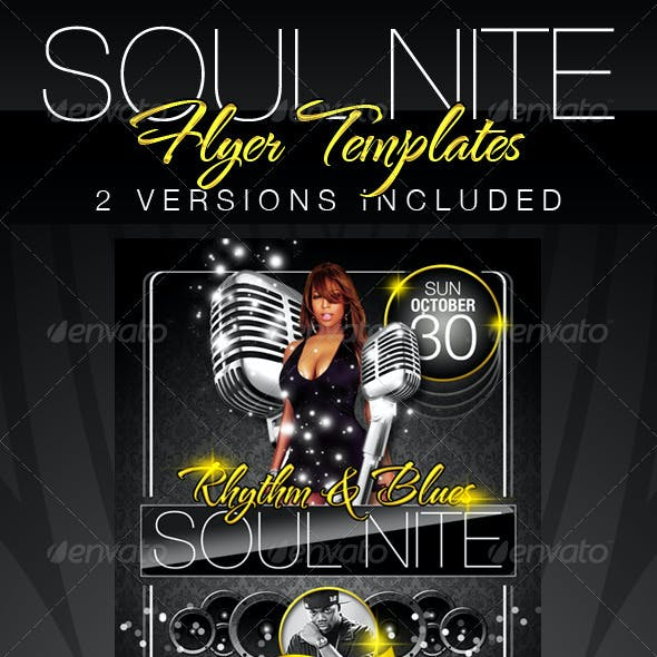 Soul Nite Flyer Templates