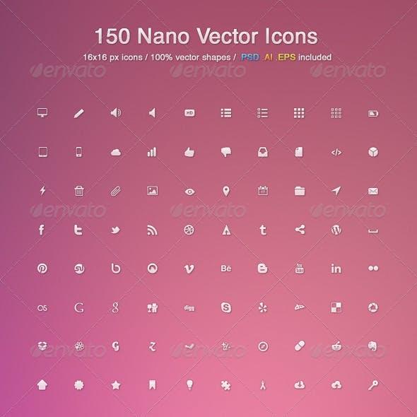 150 Nano Vector Icons