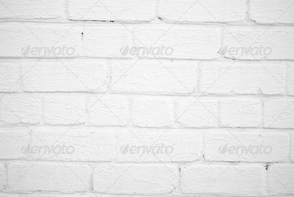 White Brick Wall Pattern - Stone Textures