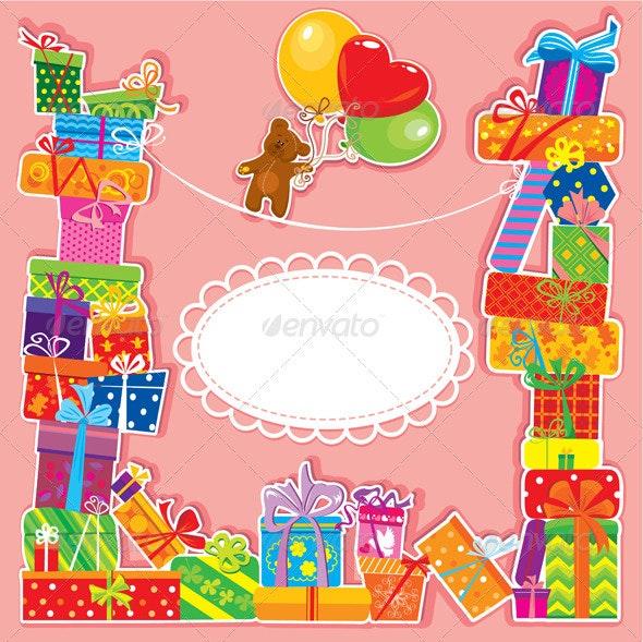 Birthday card with teddy bear - Birthdays Seasons/Holidays