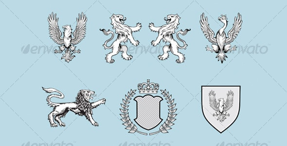Heraldic design elements - Decorative Symbols Decorative